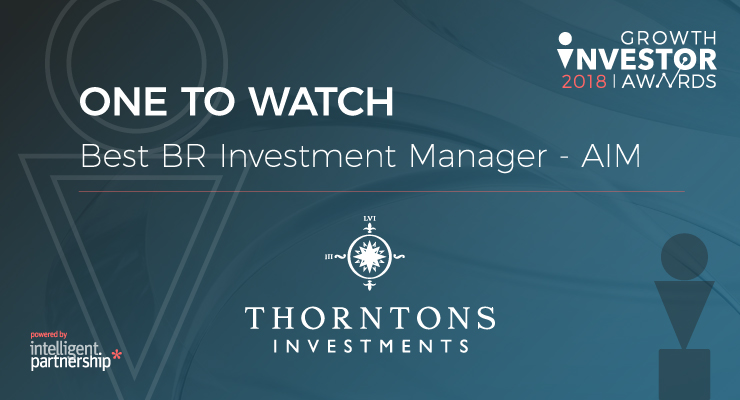 Thorntons Investments named 'One To Watch' at the Growth Investors 2018 Awards